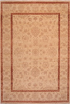 "Agra Beige Hand Knotted 10'1"" X 14'9""  Area Rug 301-30992"
