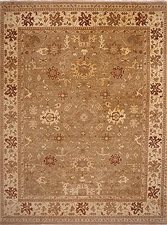 Indian Oushak Beige Rectangle 12x15 ft Wool Carpet 30993