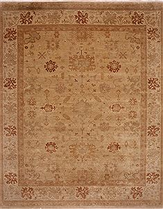 Indian Oushak Beige Rectangle 12x15 ft Wool Carpet 30994