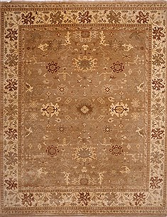 Indian Oushak Beige Rectangle 12x15 ft Wool Carpet 30995