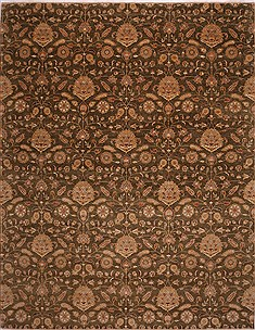 "Agra Green Hand Knotted 12'1"" X 15'2""  Area Rug 301-30996"