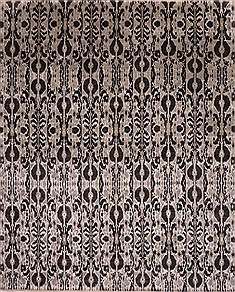 "Modern-Contemporary Black Hand Knotted 11'10"" X 14'7""  Area Rug 301-30999"