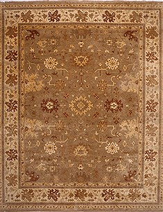 "Oushak Beige Hand Knotted 12'6"" X 15'5""  Area Rug 301-31000"