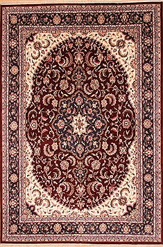 "Kashan Red Hand Knotted 12'2"" X 18'2""  Area Rug 276-31002"