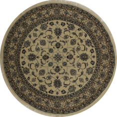 "Nain Beige Round Hand Knotted 4'10"" X 4'10""  Area Rug 254-32025"
