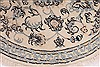 Nain Beige Round Hand Knotted 33 X 33  Area Rug 254-32029 Thumb 3