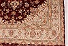 Tabriz Beige Hand Knotted 50 X 70  Area Rug 254-32048 Thumb 1