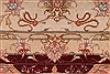 Tabriz Beige Hand Knotted 50 X 70  Area Rug 254-32048 Thumb 2