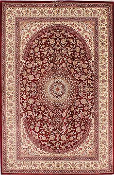 "Qum Beige Hand Knotted 4'2"" X 6'6""  Area Rug 254-33876"