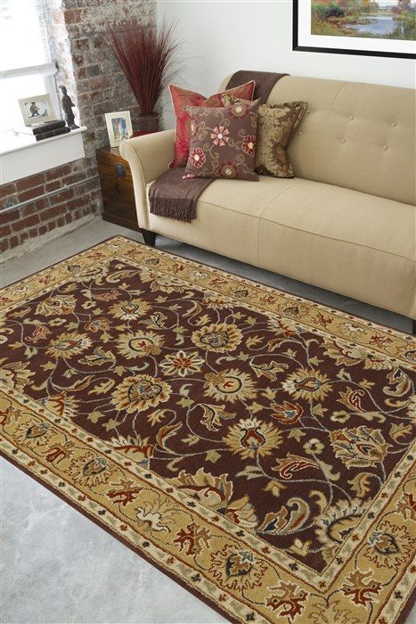 Surya Caesar Purple Rectangle 6x9 Ft Wool Carpet 36991