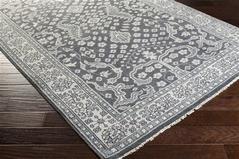 Surya Cappadocia Grey Rectangle 9x13 Ft Wool Carpet 41188