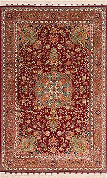 Persian Tabriz Beige Rectangle 3x5 ft Wool Carpet 49145