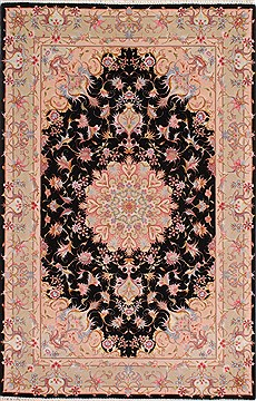 "Tabriz Beige Hand Knotted 3'0"" X 5'0""  Area Rug 254-50561"