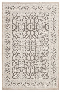 Jaipur Living Fables Grey Rectangle 9x12 ft Acrylic and Rayon and Polyester Carpet 64616