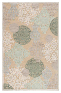 Jaipur Living Fables Beige Rectangle 9x12 ft Acrylic and Rayon and Polyester Carpet 64651
