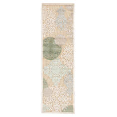 Jaipur Living Fables Beige Runner 6 to 9 ft Acrylic and Rayon and Polyester Carpet 64652