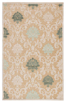Jaipur Living Fables Beige Rectangle 9x12 ft Acrylic and Rayon and Polyester Carpet 64832