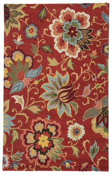"Jaipur Living Hacienda Red 3'6"" X 5'6"" Area Rug RUG111762 803-65139"