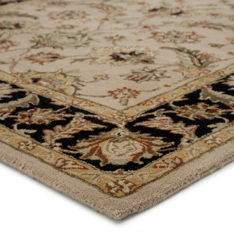 Jaipur Living Mythos Beige Rectangle 8x10 Ft Wool Carpet