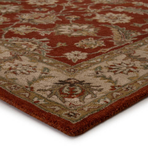 Jaipur Living Mythos Red Rectangle 12x15 Ft Wool Carpet