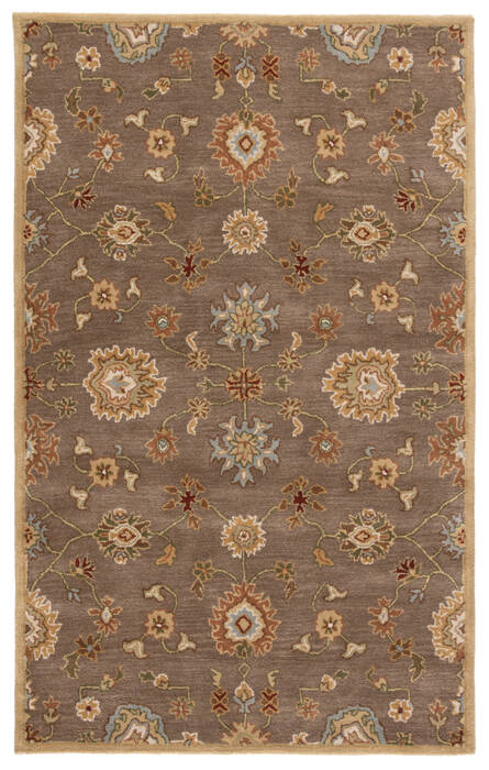 Jaipur Living Poeme Brown Rectangle 2x3 Ft Wool Carpet