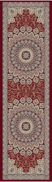 "Dynamic ANCIENT GARDEN Red Runner 2'2"" X 11'0"" Area Rug AN212570901484 801-68695"