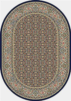 "Dynamic ANCIENT GARDEN Blue Oval 2'7"" X 4'7"" Area Rug ANOV35570113464 801-68775"