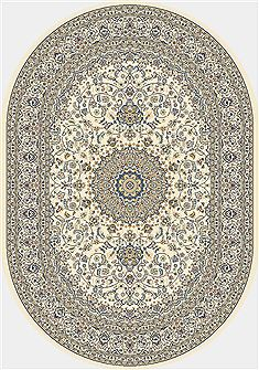 "Dynamic ANCIENT GARDEN Beige Oval 2'7"" X 4'7"" Area Rug ANOV35571196464 801-68783"
