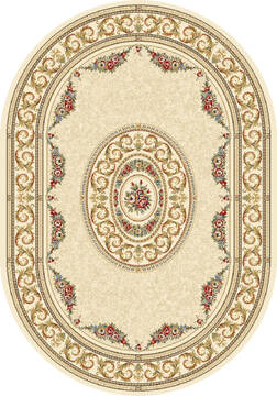 "Dynamic ANCIENT GARDEN Beige Oval 2'7"" X 4'7"" Area Rug ANOV35572266464 801-68792"