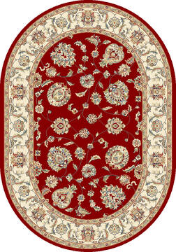 "Dynamic ANCIENT GARDEN Red Oval 2'7"" X 4'7"" Area Rug ANOV35573651464 801-68793"
