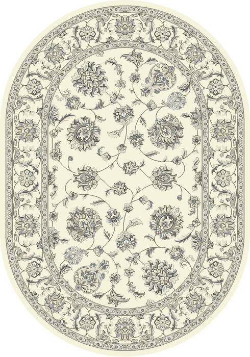 Dynamic Ancient Garden Beige Oval 4x6 Ft Polypropylene