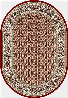 "Dynamic ANCIENT GARDEN Red Oval 5'3"" X 7'7"" Area Rug ANOV69570111414 801-68938"