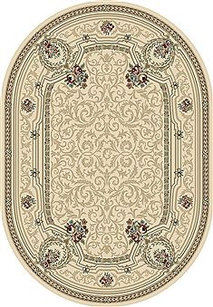"Dynamic ANCIENT GARDEN Beige Oval 5'3"" X 7'7"" Area Rug ANOV69570916464 801-68942"