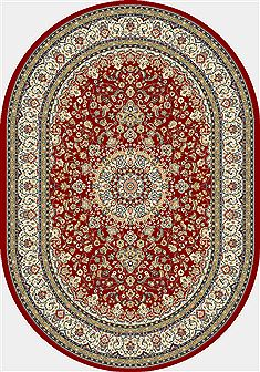 "Dynamic ANCIENT GARDEN Red Oval 5'3"" X 7'7"" Area Rug ANOV69571191414 801-68944"