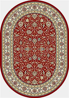 "Dynamic ANCIENT GARDEN Red Oval 5'3"" X 7'7"" Area Rug ANOV69571201464 801-68951"
