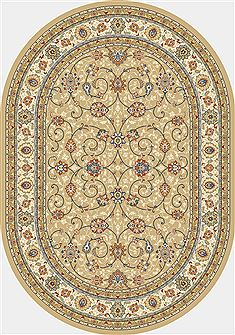"Dynamic ANCIENT GARDEN Yellow Oval 5'3"" X 7'7"" Area Rug ANOV69571202464 801-68952"