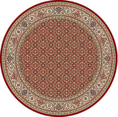 "Dynamic ANCIENT GARDEN Red Round 5'3"" X 5'3"" Area Rug ANR5570111414 801-69136"