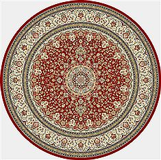 "Dynamic ANCIENT GARDEN Red Round 5'3"" X 5'3"" Area Rug ANR5571191414 801-69146"