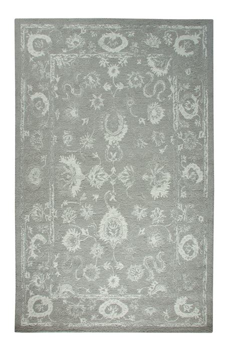 Dynamic Avalon Grey Rectangle 2x4 Ft Wool Carpet 69211