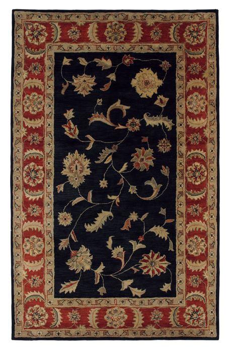 Dynamic Charisma Black Rectangle 10x13 Ft Wool Carpet
