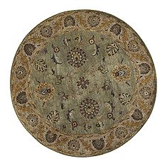 Dynamic CHARISMA Beige Round 5 to 6 ft Wool Carpet 69589