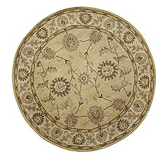 Dynamic CHARISMA Beige Round 7 to 8 ft Wool Carpet 69598