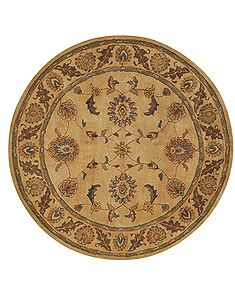 Dynamic CHARISMA Beige Round 7 to 8 ft Wool Carpet 69607