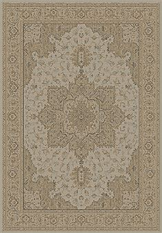 Dynamic IMPERIAL Beige Rectangle 2x4 ft polypropylene Carpet 70092