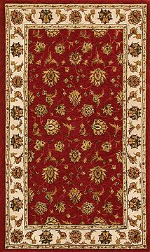 "Dynamic JEWEL Red 6'7"" X 9'6"" Area Rug JW71070231330 801-70370"
