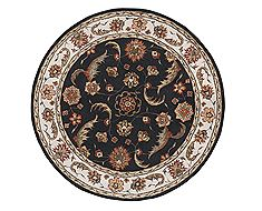 "Dynamic JEWEL Grey Round 5'3"" X 5'3"" Area Rug JWR570113808 801-70399"