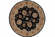 "Dynamic JEWEL Black Round 5'3"" X 5'3"" Area Rug JWR570230092 801-70400"