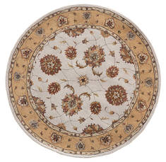 "Dynamic JEWEL White Round 5'3"" X 5'3"" Area Rug JWR570230107 801-70401"