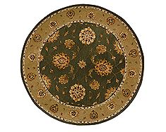"Dynamic JEWEL Green Round 5'3"" X 5'3"" Area Rug JWR570230444 801-70403"