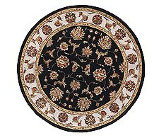 "Dynamic JEWEL Black Round 5'3"" X 5'3"" Area Rug JWR570231090 801-70404"